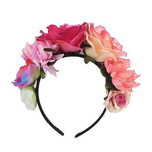 Für Mädchen Blume Krone Stirnband Party Dekoration Kopfschmuck Künstliche Frauen Stirnband Garland Kostüm ()