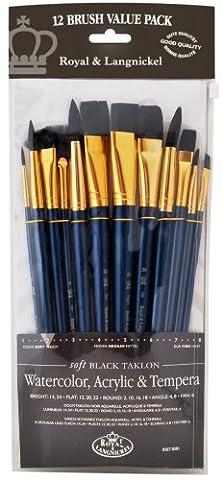 Royal & Langnickel RSET-9301 Set de pinceaux variété 12 pièces