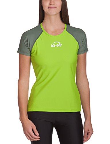 iQ-UV Damen 300 Regular Geschnitten, Uv-Schutz T-Shirt,Grün (Olive/Neo-Green),XL (44) -