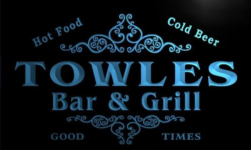 Towle Bar (u45415-b TOWLES Family Name Bar & Grill Home Decor Neon Light Sign Barlicht Neonlicht Lichtwerbung)