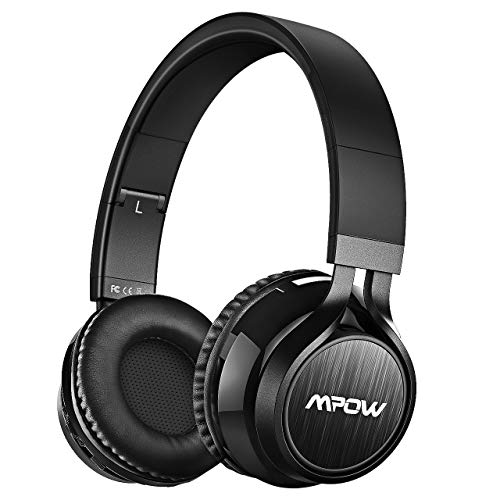 Mpow Thor Cuffie Bluetooth, Cuffie Over Ear Pieghevole, Auricolari Wireless Senza Fili, Cuffie Wireless Con Microfono, Audio Hi-Fi, Bluetooth 4.1, Cuffie DJ Per iPhone/Huawei/Samsung Altri Telefoni/PC