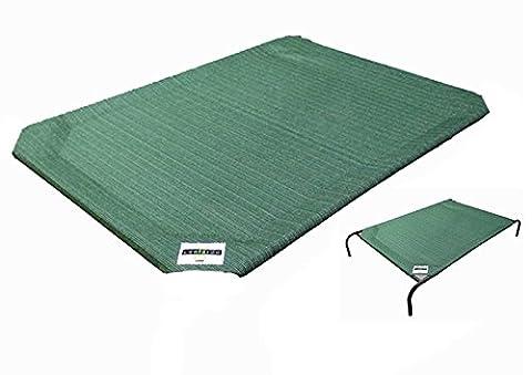 Coolaroo Remplacement Tissu Lit Surélevé pour Chien Brunswick Green Taille L