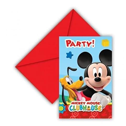 Mickey Mouse Clubhouse Party - Playful Mickey Invitations x 6