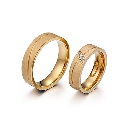 Ornament golden matt Kurve Titan Stahl paa ()