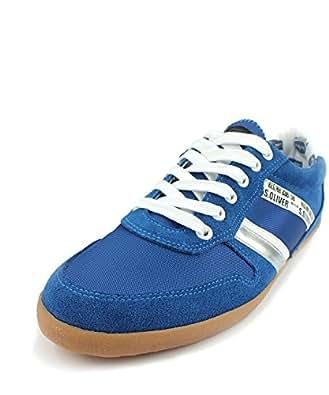 s.OLIVER Herren Schnür-Halbschuhe, Urban Sneaker, Echtleder, royal blau, Größe:46