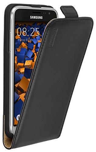 mumbi PREMIUM Leder Flip Case für Samsung Galaxy J3 (2016) Tasche