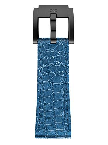 TW Steel Marc Coblen Armband Uhrenband Leder 22 MM Kroko blau LB_BL_K_B
