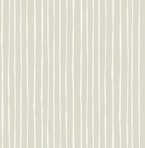 Graham & Brown Eleflump Candy Stripe Wallpaper, Cream/Brown/White