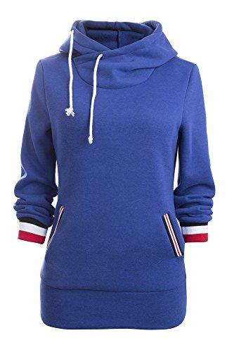 Aitos Kapuzenpullover Damen Hoodie Sweatshirt Top Mustern Gedruckt Hipster Mode Lssige Herbst Winter (Schwarz,Rot, Grau, Blau / S,M,L,XL,XXL ), Blau, 42-44/XL (Hipster Gedruckt)