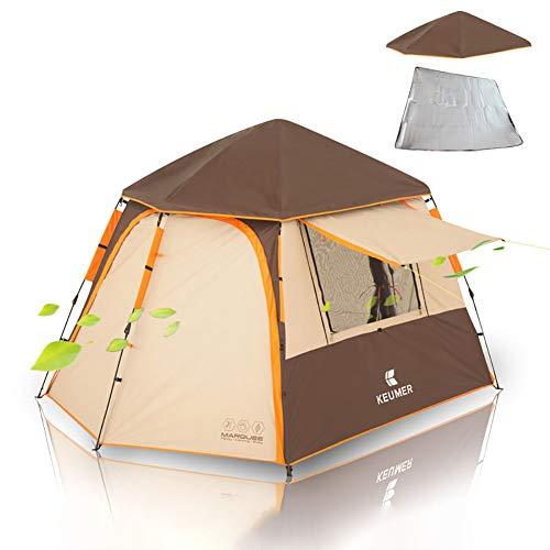 WYYHAA Automatisches Pop-Up-Campingzelt, Tragbares 4-6-Personen-Instant-Cabana-Zelt, Wasserdicht Und UV-Schutz Belüftet, Langlebig