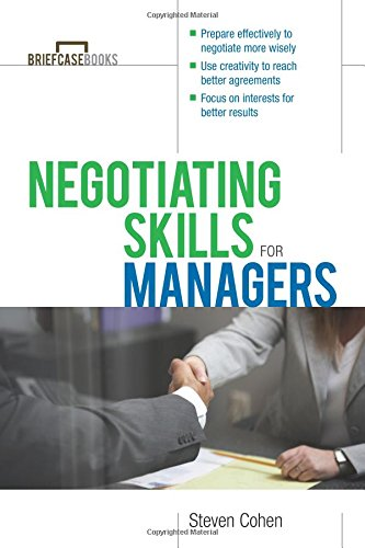 Negotiating Skills for Managers (Briefcase Books Series) por Steven Cohen