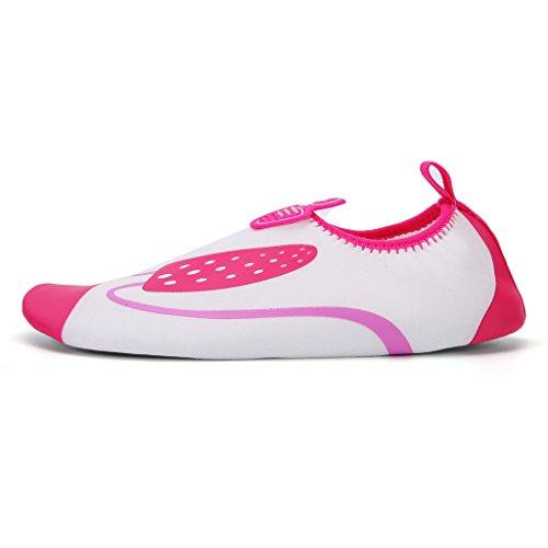 DoGeek Scarpe da Nuoto Spiaggia Surfing Nuoto Ballo Yoga Unisex Scarpe Water Shoes Scarpe Da Mare Scarpe Giardini Acqua Scarpe uomo da Pantofole Pelle Sandali Rossa