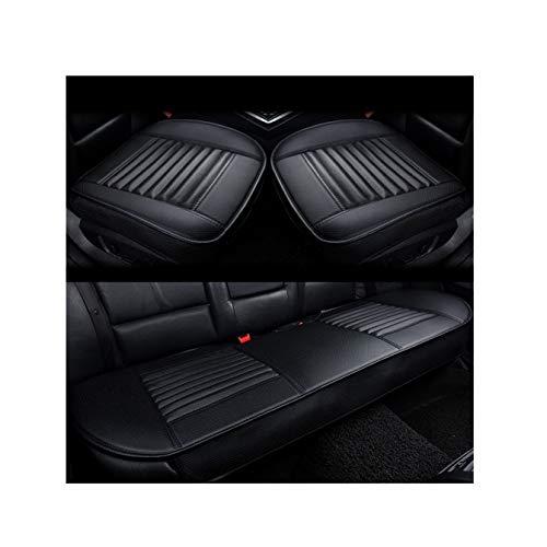GUOCU Weich Autositzüberzug Kissen Pad Matte Schutz für Autozubehör für Limousine Fließheck SUV,Schwarz,Rücksitz