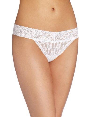 Maidenform Damen Tanga Love To Flirt-Lace Thong Weiß (WHITE WH)
