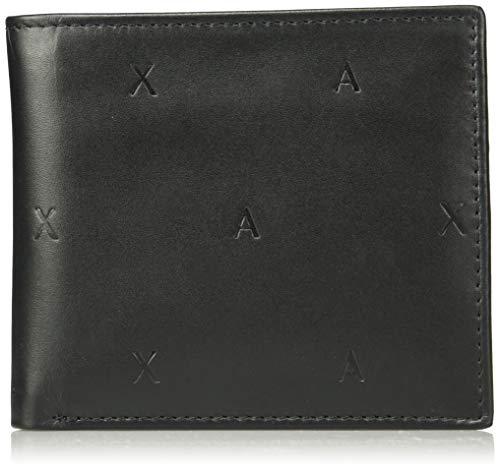 Armani Exchange Herren Bifold Coin Case Zweifalten-Geldbörse, Schwarz (Black), 10x10x10 cm