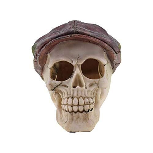 Erqingzs decorazione di halloween halloween skull decor horror resina realistico comico umano novità cranio testa forma toy decor ornamento prop