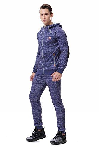 AIRAVATA Homme Ensemble Pantalon de Sport Sweatshirt à Capuche Jogging Survêtem
