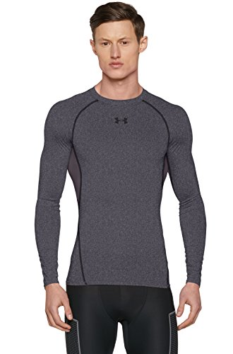 Under Armour Herren HeatGear Armour Unterhemd, Grau carbon heather, Gr. XL Herstellergröße XL