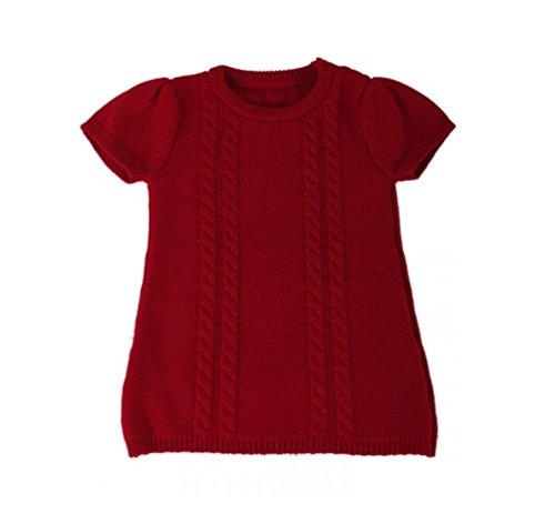 iobio Strickkleid aus Merinowolle (Rot, 86/92)