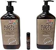 Nashi Argan Shampoo 500 ml & Conditioner 500 ml with free Nashi Oil sample