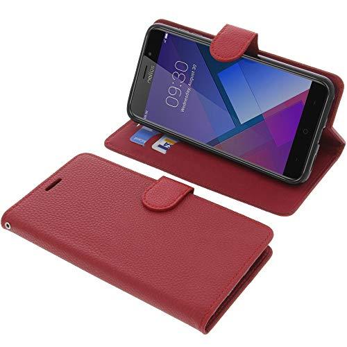 foto-kontor Tasche für TP-Link Neffos C7 Book Style rot Schutz Hülle Buch