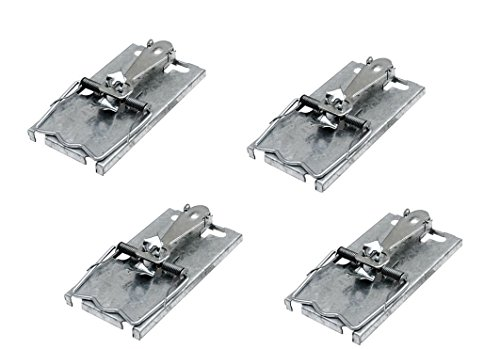 pack-of-4-metal-classic-style-mouse-self-trap-set-pest-rodent-bait-snare-control