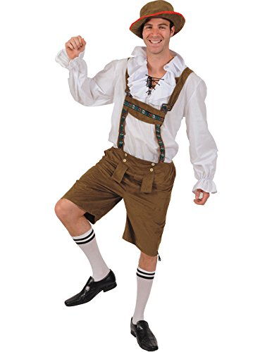 Oktoberfest Lederhosen Kostüm für Erwachsene Standard (Biergarten Kostüm)