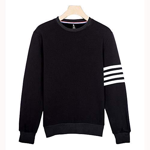 Männer Langarmshirt mit Rundhalsausschnitt und Sweatshirt schwarz L
