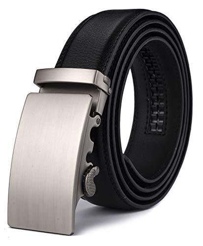 Xhtang Gürtel Herren Automatik Gürtel mit Automatikschließe-3,5cm Breite (Länge 125cm Geeignet für 37-43 taille, Schwarz19)