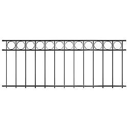 Tidyard Garden Fence Panel Steel Metal Decking Fence Outdoor Decoration 1.96x0.8 m Black