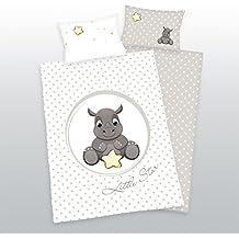 3tlg Baby Wende Bettwäsche Flanell Raupe 100x135 inkl 1 Spannbettlaken