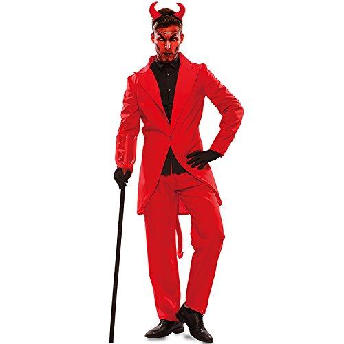 n Kostüm Teufel Lucifer rot Anzug Satan Halloween Fasching Karneval (M/L) ()