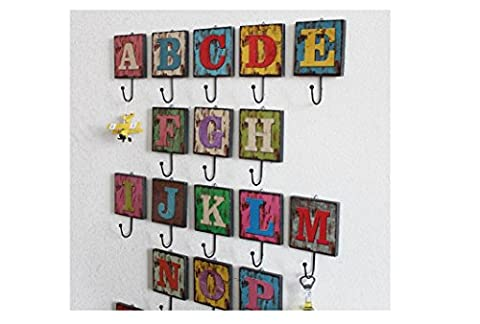 Beauqueen Creative Cafe Clothing Shop Home Decoration Hook Up Retro 26 English Letter Wall Decoration , o