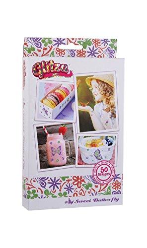 GLITZA-glt7613-Transfer Art-50diseño a pailleter-2tarros de Purpurina-Pincel