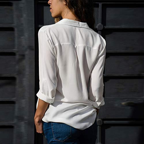 7c69ac233a5c Anmain Primavera Chiffon Camicie Blusa Donna