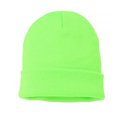 Nutshell - Berretto a Maglia Unisex - Adulti (Taglia Unica) (Verde Neon)