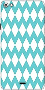 Snoogg Waves Vs Wave 2570 Designer Protective Back Case Cover For Micromax Canvas Silver 5 Q450