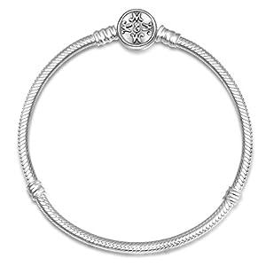 EMEMcharm Armband Silber Schlangenkette DIY Bead Trägerelemente passen Pandora Charm GM06