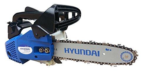 Hyundai HY-HYC2510 Motosierra Gasolina, Azul Y Blanco, 30x26x26 cm