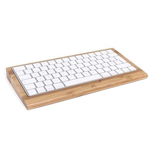 Woodcessories - EcoTray Keyboard Edt. - Premium Design Tastatur Auflage, Halterung für das Apple Wireless Keyboard aus Holz (2. Generation, Bambus)