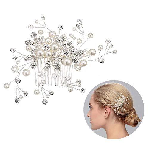 Capelli sposa accessori per forcine capelli per donne e ragazze di cristallo da sposa pettine dei capelli Ivory di coloreFai da te mano fiore