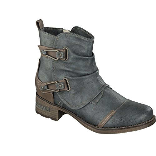 Mustang Stivali di Caviglia delle Donne 1229-604-259 Grafite schwarz