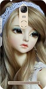 Dot Print Cute Doll Printed Back Cover For Lenovo Vibe K5 Note