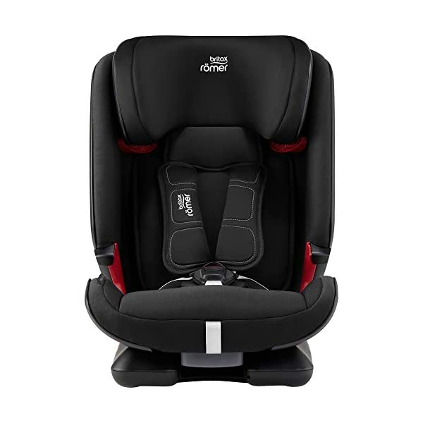 Britax Römer car seat 9-36 kg, ADVANSAFIX IV M Isofix group 1/2/3, Cosmos Black Britax Römer Our patented pivot link isofix system directs the force first downward into the vehicle seat, and then forward more gently - greatly reducing the risk of head and neck injury for your child We believe that a 5-point harness is the safest way to secure your child in a car seat because it keeps your child safe and tight in the seat's protective shell Soft neoprene performance chest pads fit comfortably on your child's chest. They help reduce your child's movement in the event of a collision, and add even greater comfort to the 5-point harness 4