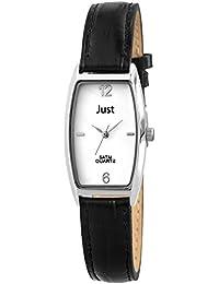 Just Watches Damen-Armbanduhr Analog Quarz Leder 48-S10420-WH-BK