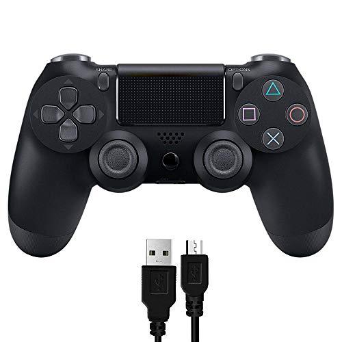 Teepao Mando Ps4 con Cable USB, Gamepad Alámbrico Vibración Dual para Mando PS4/PS4 Pro/PS3/PC/Windows7/8/10