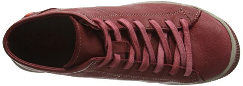 Softinos Isleen Washed, Baskets Basses Femme Rouge - Rot (scarlet 024)