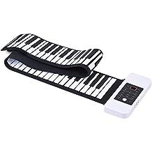 ammoon Silicona Portátil 88 Teclas Rollo Up de Mano Piano Electrónico Teclado USB Built-in Li-ion y Altavoz con un Pedal