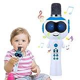 Mbuynow Microfono wireless per bambini, Bluetooth Karaoke Machine con altoparlante per iPhone, Android o Smartphone, Palmare portatile karaoke Mic Home Party Natale compleanno, Blu