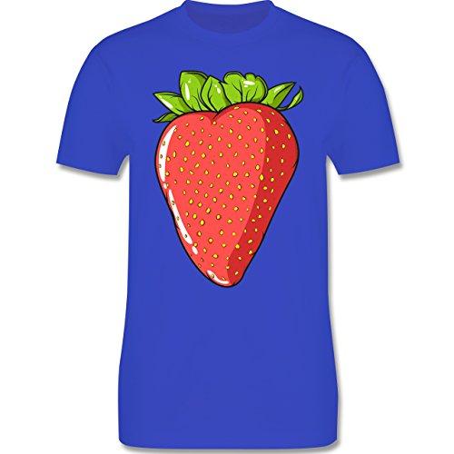Shirtracer Statement Shirts - Erdbeere - Herren T-Shirt Rundhals Royalblau